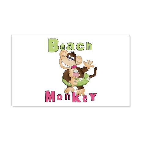 Green Beach Monkey 22x14 Wall Peel