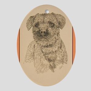 Border Terrier Ornament (Oval)