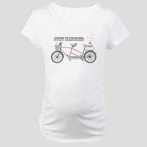 Tandem Bicyle Wedding Maternity T-Shirt