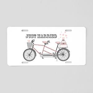 Tandem Bicyle Wedding Aluminum License Plate