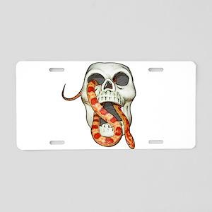 Scary Snake Skull Aluminum License Plate
