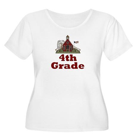 New Teacher Gift 4th Grade Women's Plus Size Scoop