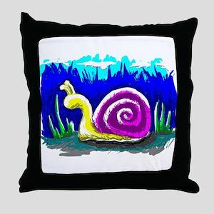 Snail Tail Throw Pillow