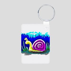 Snail Tail Aluminum Photo Keychain
