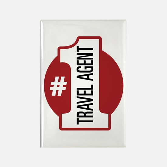 #1 Travel Agent Rectangle Magnet