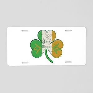 The Masons Irish Clover Aluminum License Plate