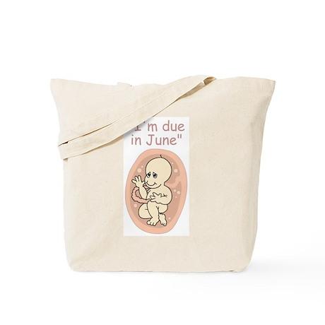 June due date baby cartoon Tote Bag