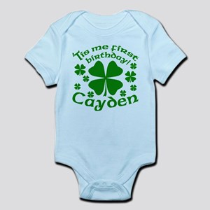 Custom Birthday for Cayden Infant Bodysuit