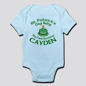 First Birthday for Cayden Infant Bodysuit