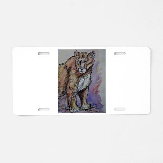 Mountain Lion, Stunning, Aluminum License Plate