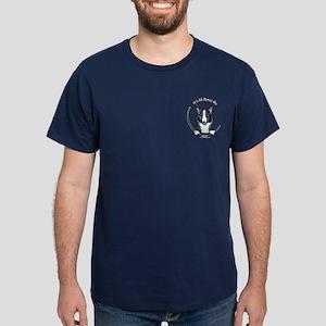 Merle Corgi IAAM Pocket Dark T-Shirt
