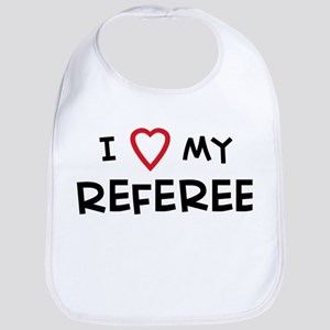 I Love Referee Bib