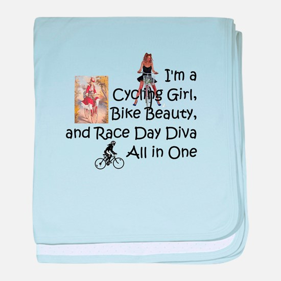 Cycling Race Diva baby blanket