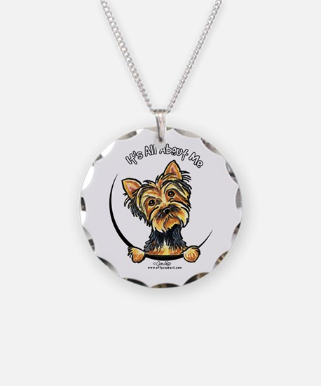 Yorkie IAAM Necklace Circle Charm