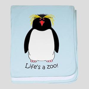 Rockhopper Penguin baby blanket
