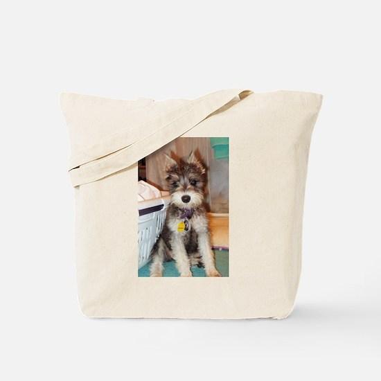 Schnauzer Puppy Tote Bag