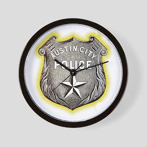 Austin City Police Wall Clock