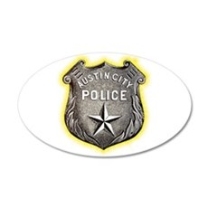 Austin City Police 22x14 Oval Wall Peel