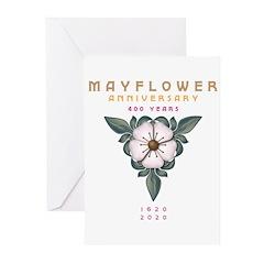 Mayflower Anniversary Flower 1 Greeting Cards