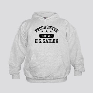 Proud Sister of a US Sailor Kids Hoodie