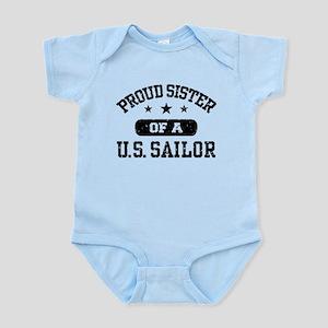 Proud Sister of a US Sailor Infant Bodysuit