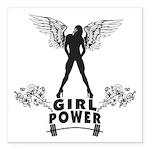girl-power Square Car Magnet 3