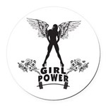girl-power Round Car Magnet