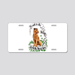 Proud Irish Terrier Aluminum License Plate