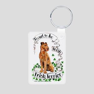 Proud Irish Terrier Aluminum Photo Keychain