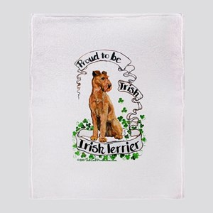 Proud Irish Terrier Throw Blanket