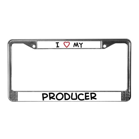 I Love Producer License Plate Frame