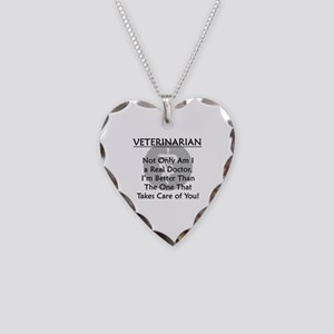 Veterinarian A Real Doctor Necklace Heart Charm