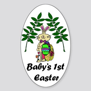 Baby's First Easter Sticker (Oval)
