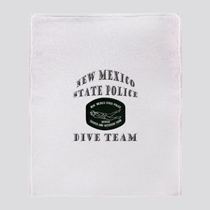New Mexico State Police Diver Throw Blanket