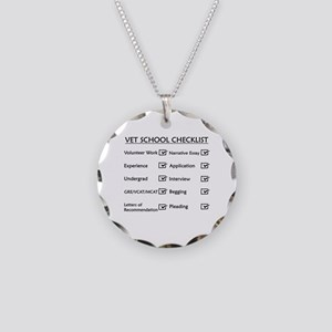Vet School Checklist Necklace Circle Charm