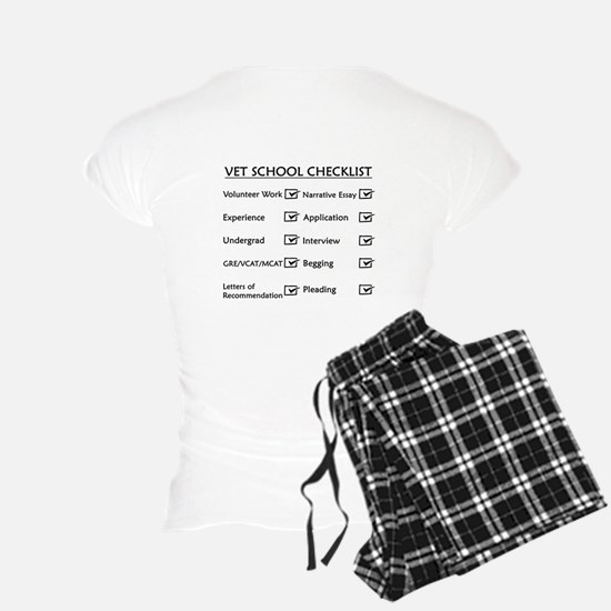 Vet School Checklist Pajamas