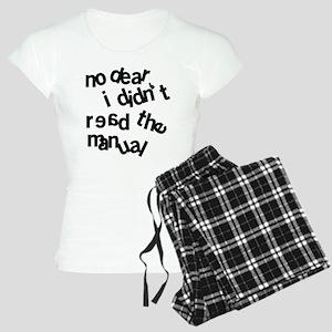 Men Don't Read Women's Light Pajamas