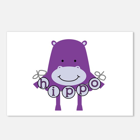 Cartoon Hippo Postcards (Package of 8)