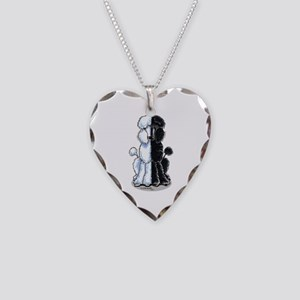 Double Standard Necklace Heart Charm