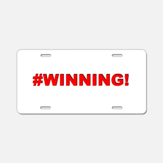 #WINNING Aluminum License Plate