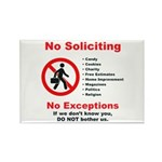 No Soliciting Rectangle Magnet #2