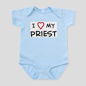 I Love Priest Infant Creeper