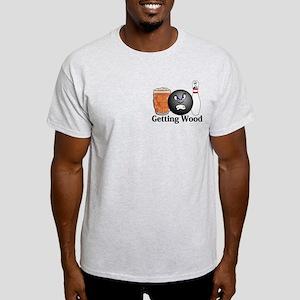 Getting Wood Logo 10 Light T-Shirt Design Front Po