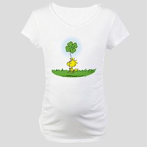 Woodstock Shamrock Maternity T-Shirt