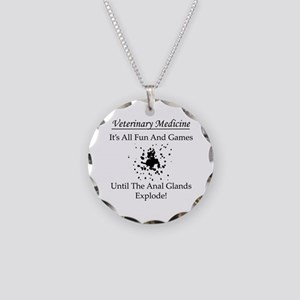 Anal Gland Design Necklace Circle Charm