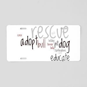 Adoption Wording - Aluminum License Plate