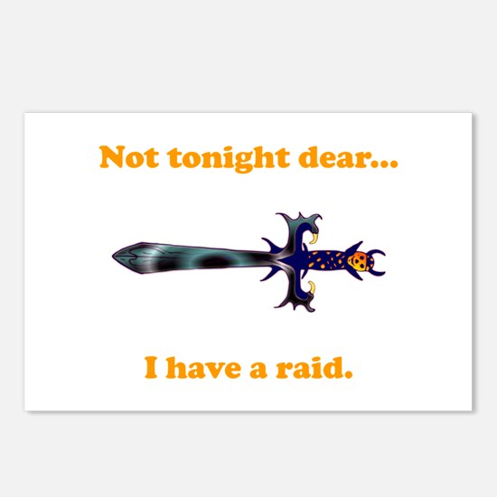 Not Tonight...Got A Raid! Postcards (Package of 8)