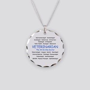 Veterinarian The All-In-One D Necklace Circle Char