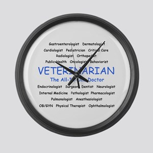 Veterinarian The All-In-One D Large Wall Clock