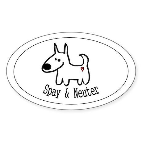 Spay & Neuter -dog- Oval Sticker